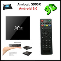 Wholesale X96 Smart TV BOX K Android Amlogic S905X Quad Core H Media Player KODI Marshmallow Mini PC GHz Wifi Miracast Airplay DLNA VS MXQ