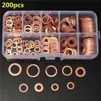 Wholesale 200PCs Solid Copper Washers Sump Plug Assorted Washer Kits Sizes