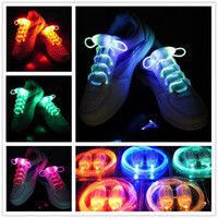30pcs (15 paires) 2017 New Arrival Light Up LED Shoelaces Fashion Flash Disco Party Glowing Night Sports Chaussures Chaussures Cordes Chaussures Multicolors
