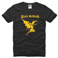 band tee shirts - New Designer Black Sabbath Logo T Shirts Men Cotton Short Sleeve Heavy Metal Rock Band Men s T Shirt Summer Style Male Top Tees