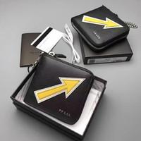 arrow wallets - Fashion arrow design mini short wallet brand package original Really leather pocket purse zipper handbag top quality purse