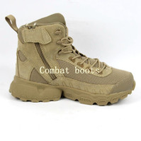 Bota militar Baratos-Nuevo Los últimos hombres de malla de nylon Militar Tactical Boots Desierto de combate al aire libre Ejército de senderismo Viajes Botas Botas de cuero de tobillo