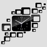 antique offers - time limited quartz wall home decoration new special offer mirror acrylic clock modern design watch sticker