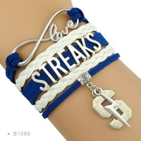 best streaks - Pieces Infinity Love Streaks Sports Team Bracelet Navy White Best Gift for Sports Fan Custom Any Themes Drop Shipping