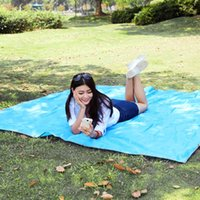 Wholesale 215 cm Outdoor Moistureproof Foldable Camping Mat For Picnic Sand Free Mat Blanket Pad for Camping Hiking Storage Bag