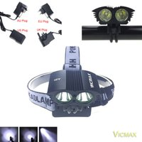 Wholesale 2 in Headlamp Lumens x XM L T6 LED Bike Bicycle Light Lamp HeadLight Headlamp for modes