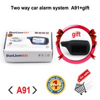 Wholesale Factory sale Russian version Starlionr A91 Two way car alarm system with remote start way auto alarm system Starlionr A91