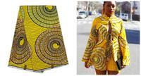 al por mayor vestidos de las señoras amarillas-Super cera hollandais 2016 últimas telas baratas en amarillo para la señora africana viste 6yard / lot YBG-420