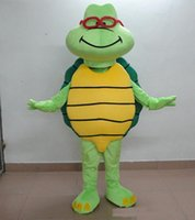 Mascot Costumes Free Size Movie/Music Stars Hight quality cute old glasses Turtle mascot Costume custom cartoon character cosply adult size carnival costume fancy dress