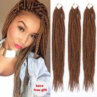 Wholesale 18 quot Synthetic Havana Mambo Twist Crochet Braid Hair Senegalese Twist Braids Faux Locs Synthetic dreadlocks braids hair extensions set
