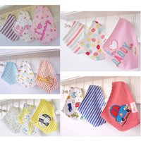 Cotton as pic Cartoon Baby bibs & Burp Cloths Feeding baby clothes baby towels cotton Accessories boys girls bibs good quality