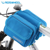 Wholesale NaturalHome Brand Roswheel Bicycle Bag Road MTB Bike Bicycle Bag Cycling Front Top Tube Frame Pannier Double Bags Pouch
