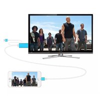 Wholesale Dock to HDMI HDTV TV Adapter USB Cable P for iPhone S S PLUS S PLUS HDMI Cable