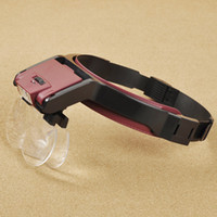 Wholesale 4 Lens x x x x Loop Headband LED Magnifiers Helmet Loupe Magnifying Glass With Headlamps