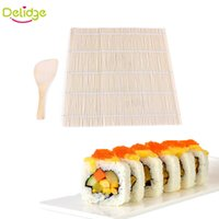 Wholesale Delidge Set Sushi Rolling Mat Sushi Japanese Sushi Mold Pad With Spoon Rice Ball Rolling Tool With Rice Paddle Set