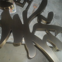 Wholesale Factory Outlet Outdoor indoor used antique metal letter name signs in copper bronze color