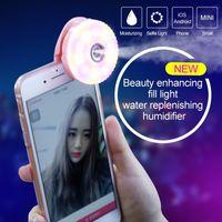 Wholesale Beauty in LED Selfie Ring Light with Face Moisturizing Humidifier RK15 Diamond Selfie fill light RK Spray Mist Phone Clip