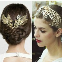 Wholesale Baroque Crown New Arrival Fashion Gold Leaves Bridal Wedding Tiara Crown Party Wedding Hair Jewelry For Women Accessories