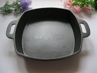 Wholesale High Qulity Cast iron cookware square cm pan no coating