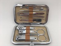 Wholesale 10 in1pcs Nail Clipper Kit Nail Care Set Pedicure Scissor Tweezer Knife Ear pick Utility Manicure Set Tools