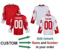 Cheap Canada Wholesale Custom Team World Cup Mens Hockey Olympics Game Red Jerseys Free Shipping Can Mix Order Accept