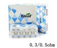 Wholesale Eleaf EC ECL Head iJust Atomizer Melo Ijust S Tank Replacement Coils ohm ohm Cotton Coil Heads