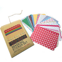 Wholesale NEW Colorful Stickers Toy for DIY Exercise Book Diary Sheets A Pack Available Styles