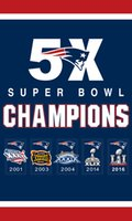 banner grommet - Patriots Flag House Flag X5FT times SUPER BOWL CHAMPIONS Sport Team Banner Material Polyester two metal grommets