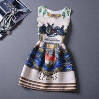 Acheter Jupes bon marché pour l'été-Nouveau femmes 88 couleurs bon marché vendant chaud style chaud 'gilet sans manches imprimé jupe robe prix d'usine