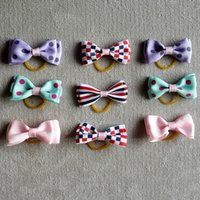 Wholesale 2017 New style daily use handmade pet bows three styles and patterns assorted bag