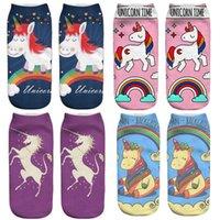 Wholesale Children Animal Socks Cute Unicorn Short Socks For Kids Women Men d Polyester Pony Printed Animal socks
