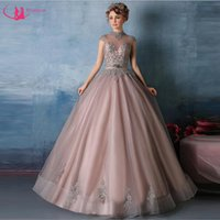 attractive pictures - Customized High Neck Quinceanera Dress Attractive Dresses With Appliques Corset Back Cap Sleeve Ball Gown New Fashion Style