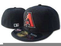 arizona hot - 2017 hot selling New Arrival Arizona Diamondbacks Fitted Cap Embroidered Logo Baseball Size Cap Casual Style sport Hats