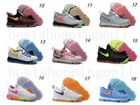 Acheter Kd chaussures hommes taille 12-Air Zoom KD 9 Hommes Chaussures de basket-ball KD9 (50Colour) Oreo Gris Wolf Kevin Durant 9s Hommes Sport Training Sneakers Warriors Accueil Taille US7-12