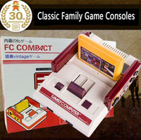 Console de jeu vidéo RS-35 FC Rouge Blanc Machine de jeux familiale classique Consoles de jeux TV Carte jaune Jeux de cartes enfichables Juego