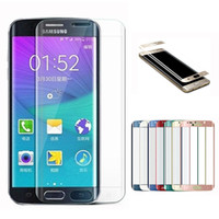 anti cover - For iPhone Galaxy S7 Full Screen Protector Tempered Glass S6 edge Plus Cover Whole Screen Curve Screen Protector With Retail Package