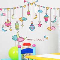 Wholesale Bedroom living room sofa background wall stickers kindergarten nursery decorative stickers creative cartoon stars PVC wallpaper