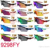 al por mayor bicicleta gafas de sol mujer-Los gafas de sol al aire libre de los colores de los deportes de los gafas de la bicicleta de las mujeres de las gafas de sol del deporte del hombre del verano a estrenar de los colores 15colors A +++ liberan el envío