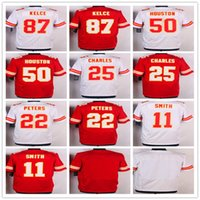 Los hombres de 2016 cosieron los jerseys # 22 Marcus Peters # 87 Travis Kelce # 11 <b>Alex Smith</b> # 25 Jamaal Charles # 50 Jerseys de Justin Houston