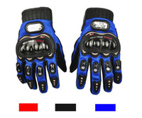 Wholesale Pro Biker Motorcycle Gloves Full Finger M L XL Motorbike Motocross Luvas Guantes Moto Protective Gears Gloves Blue Red Black