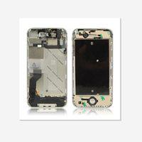 al por mayor iphone 4s marco original-El NUEVO marco medio del metal original con las pequeñas piezas instaló para el color del blackwhite del iPhone 4 4S El envío libre