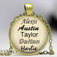 arts cross pendant - Personalized Names necklace Names Family Names Letters Art Pture lass Cabochon Dome Charm pendant Custom Jewelry