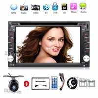 Wholesale Double din Car DVD Player GPS Navigation Auto Radio In dash Car PC Stereo Video Steering Wheel Free Map Car Multimedia Player