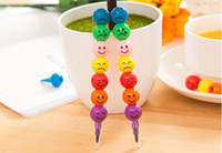 Wholesale 4 set Stationery Colorful WaterColor Brush Smiley Cartoon Pens Pencil Markers Children s Toys Gifts Watercolor Pen Colors