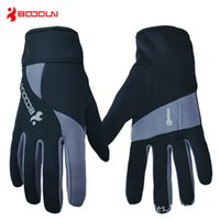 Wholesale Men Women Running Gloves with Key Bag Autumn Winter Windproof Warm Soft Outdoor Sports Long Finger Cycling Gloves