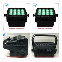 Wholesale 4xlot x8w DMX Chargable led rgbw lights outdoor battery wireless wall washer For Building Waterproof