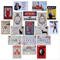 Wholesale Styles TIN SIGNS Wall Poster CM Retro Vintage Old Metal Art Painting Decor Tin Sign Plate DIY Bar Home Classic Decor