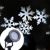 Wholesale US UK AU EU V Universal W White Snowflake LED Effect Projector Laser Light Christmas Decoration Lawn Lamps