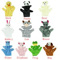 Wholesale Cartoon Plush Hand Puppet Children Baby Toy Finger Puppets Hand Puppet Animals Gloves For Kids