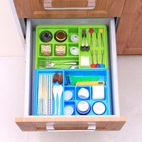 Wholesale Universal Double Layer Adjustable Holder Storage Tray Drawer Divider Organizer compartment Toolbox For Cutlery Stationery Cosmetics